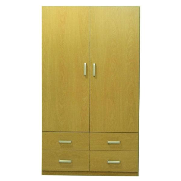 Double Door Wardrobe with 4 Drawers Model 509